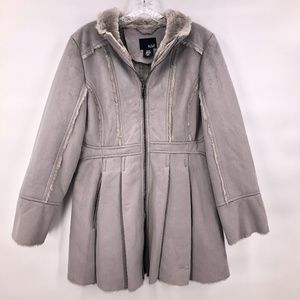 Like New ANA petite grey suede jacket